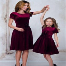 CANIS Family Mother And Daughter Dresses Matching Casual Women Lady Girl Long Sleeve Party Tutu Princess Dress Autumn Clothes(China)