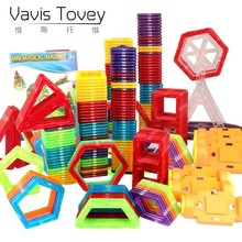 Vavis Tovey Mini Magnetic Blocks 3D Educational Bricks Magnetic Designer Toy Square Triangle Hexagonal Building Blocks 168pcs set 3d diy kids creative educational magnetic building blocks toys triangle square hexagon wheels deluxe super brain set