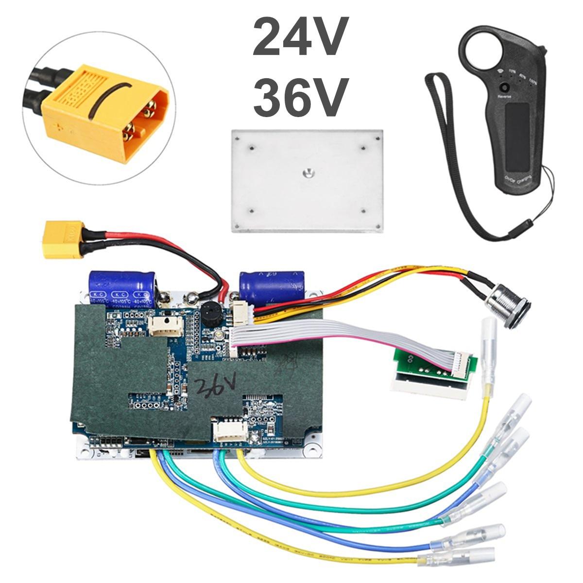 24/36 V Double ceinture moteur électrique planche à roulettes contrôleur Longboard ESC pièces de rechange Scooter carte mère Instrument outils