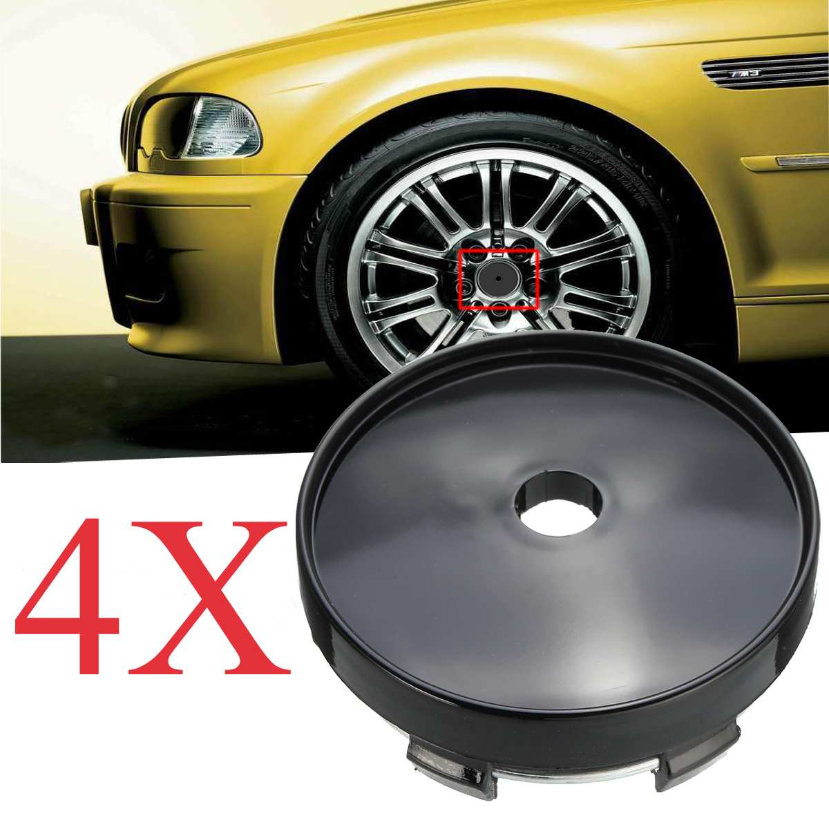 56mm 4pcs 4x4 Wheel Rim Center Hub Cap Decal Cover Emblem Car Sticker For Jeeps