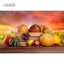 Laeacco Wooden Board Harvest Basket Corn Backdrop Photography Backgrounds Customized Photographic Backdrops For Photo Studio