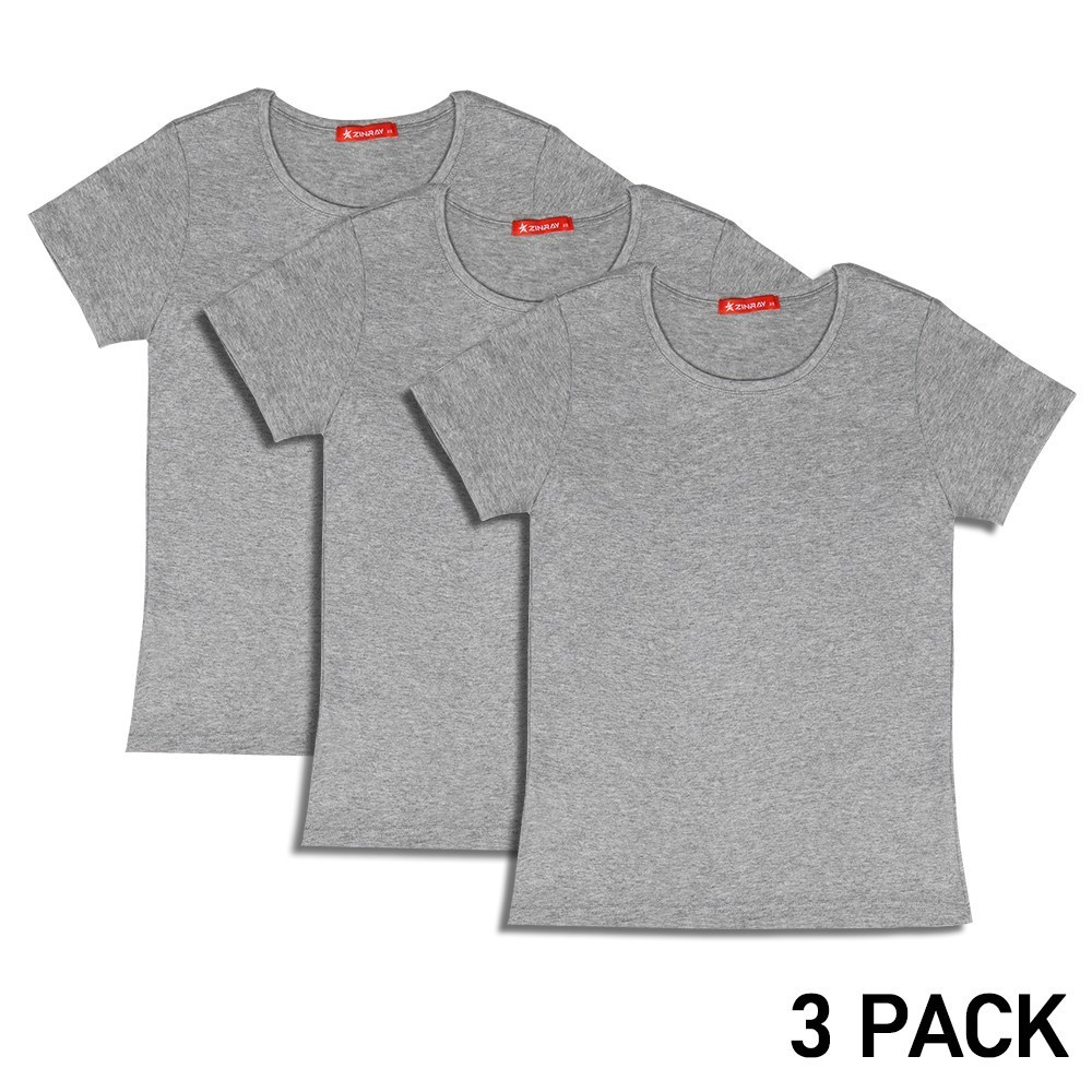Shoe Accessories Zinray 3 Pack Women Gym Tshirt Finess Quick Dry Stretch Pure Cotton Grey Basic Round Neck T-shirt For Female Running Gym Yoga An Enriches And Nutrient For The Liver And Kidney