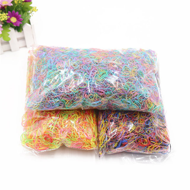 About 1000pcs/bag (small package) 2018 New Child Baby TPU Hair Holders Rubber Bands Elastics Girl's Tie Gum Hair Accessories
