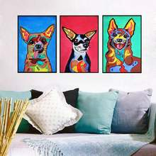 Nordic Art Watercolor Animal Dog Minimalist Poster Canvas Painting A4 Wall Picture Print Modern Home Room Decor Hand Painted(China)