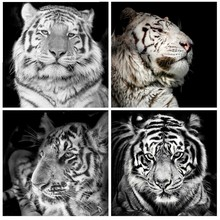 Huacan Diamond Mosaic Sale Animal Paintings From Crystals Painting Tiger Full Drill Square Embroidery