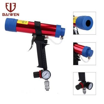 250ml Pneumatic Glue Gun Dispense Adjustable Temperature For Glass Caulking Air Tool