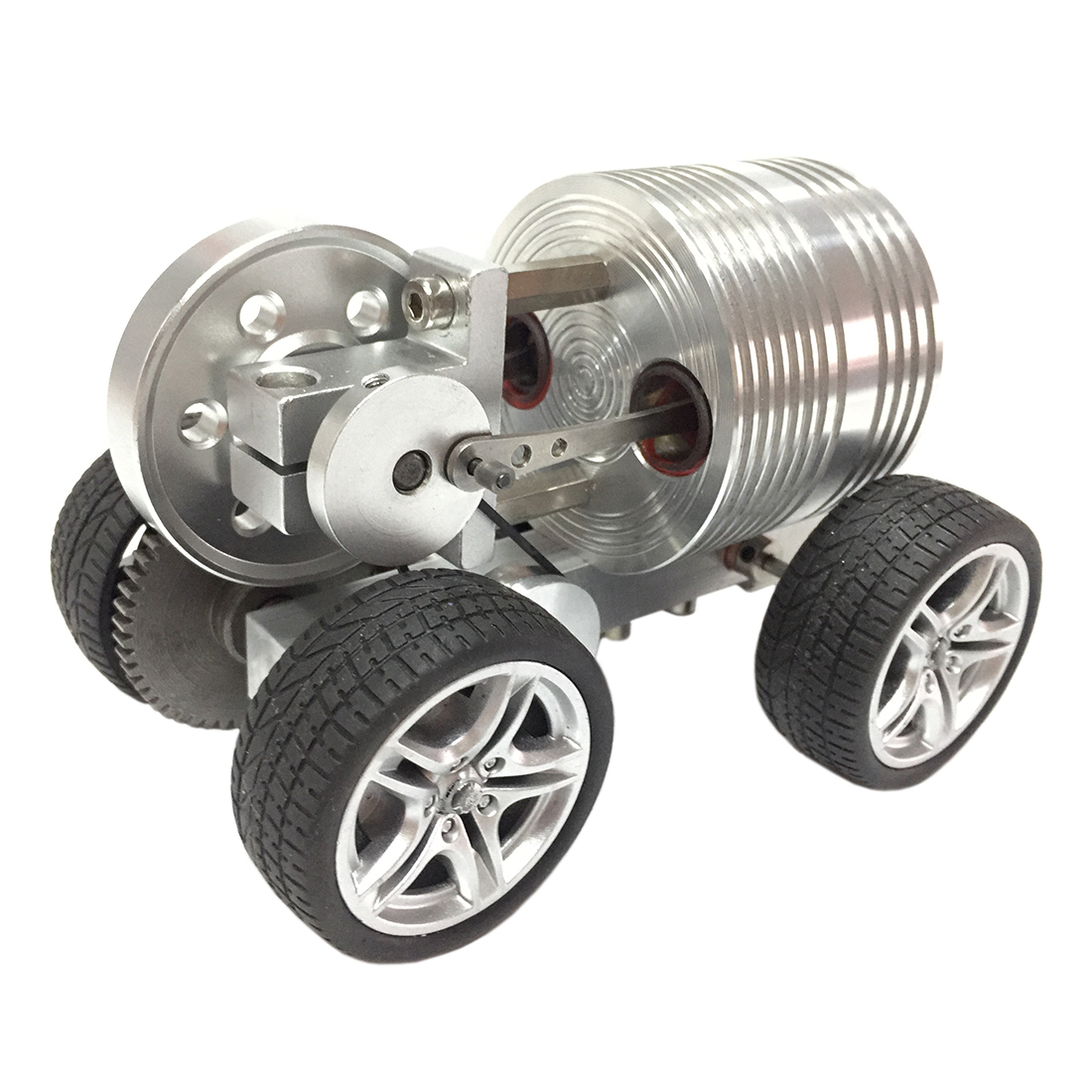2019 New Design Launchable Advanced Version Rubber Wheel Car Stirling Engine Model Toy for Kid Birthday