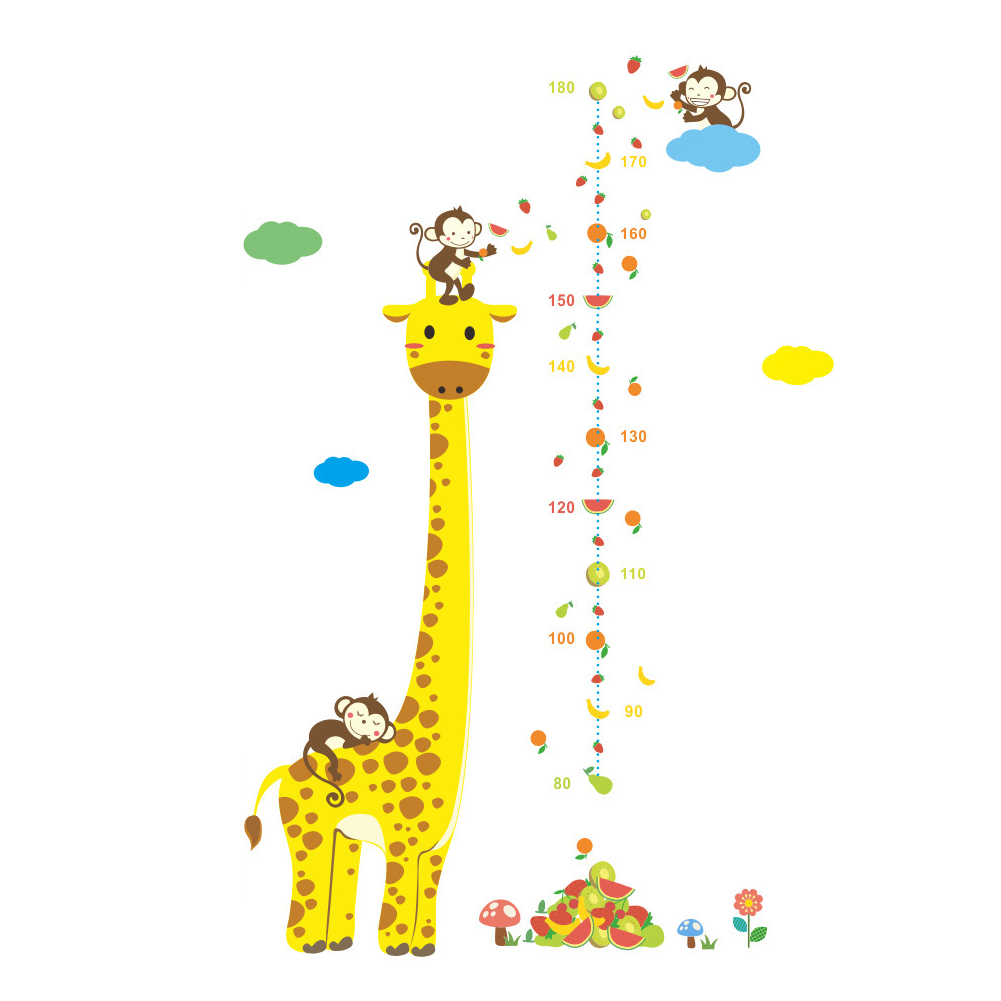 Height Meter Wall Sticker Kids Child Rooms Growth Chart Room Decor Wall