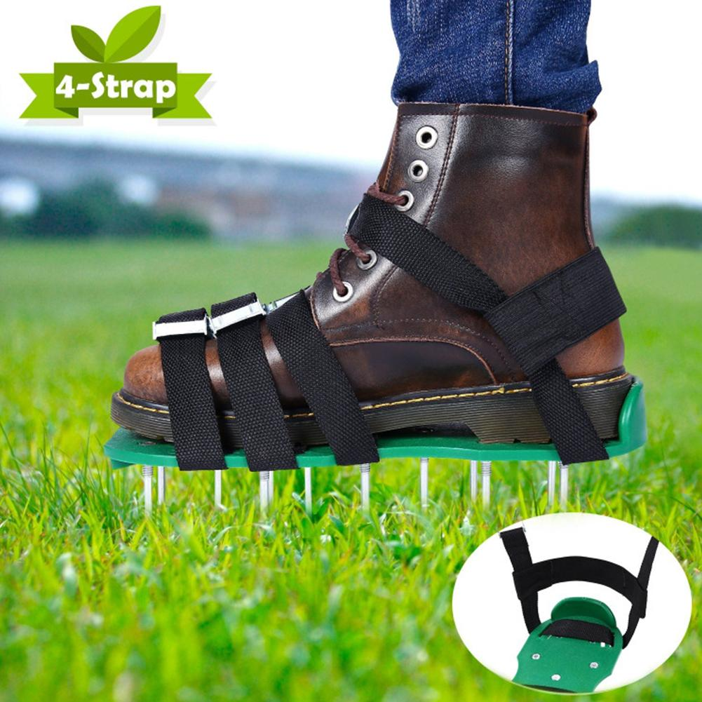 Lawn Aerator Shoes Anti-slip Solid Durable Scarifier Garden Spiked Shoes