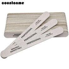 Деревянные пилочки для ногтей, 10 шт., деревянный буфер для маникюра и педикюра 100/180, УФ-гель для дизайна ногтей, полировщик, Серый густой лайм,...