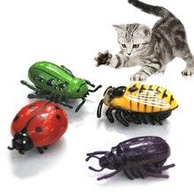 1 шт. мини милый авто Цикада ходячие насекомые электрические насекомые интерактивное моделирование Жук Игрушки для домашних животных