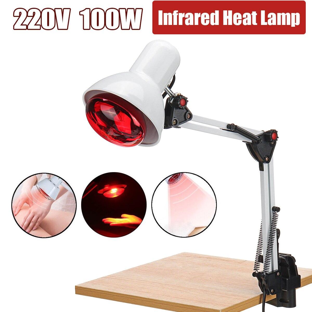 220 v 100 W Infrarot Wärme Lampe Heizung Therapie Licht Therapeutische Schmerzen Relief Gesundheit Birne Physiotherapie Instrument Massage Gesundheit