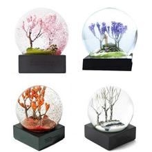 3D Four Season Theme Crystal Ball Office Living Room Girlfriends Glass Decorations Beautiful Fashion Ornaments