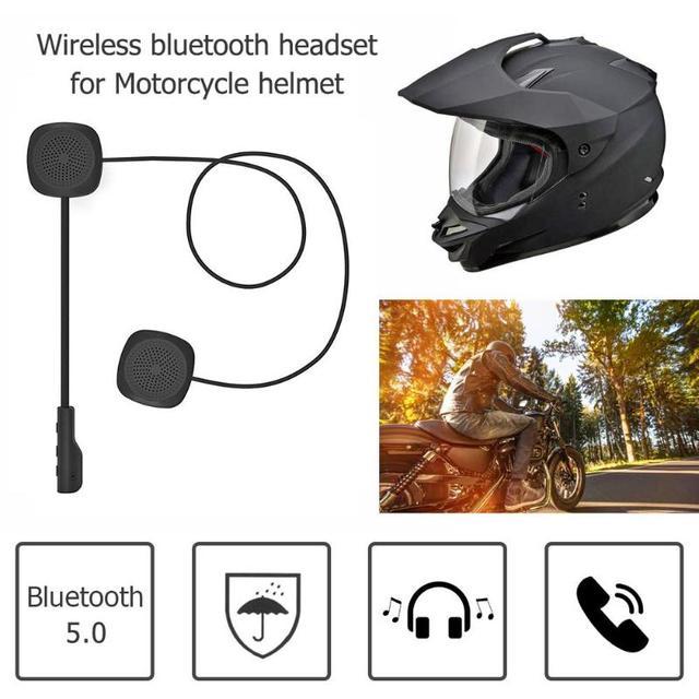 MH04 Motorcycle Helmet Headset Wireless Bluetooth 5.0 Hands Free Headphones