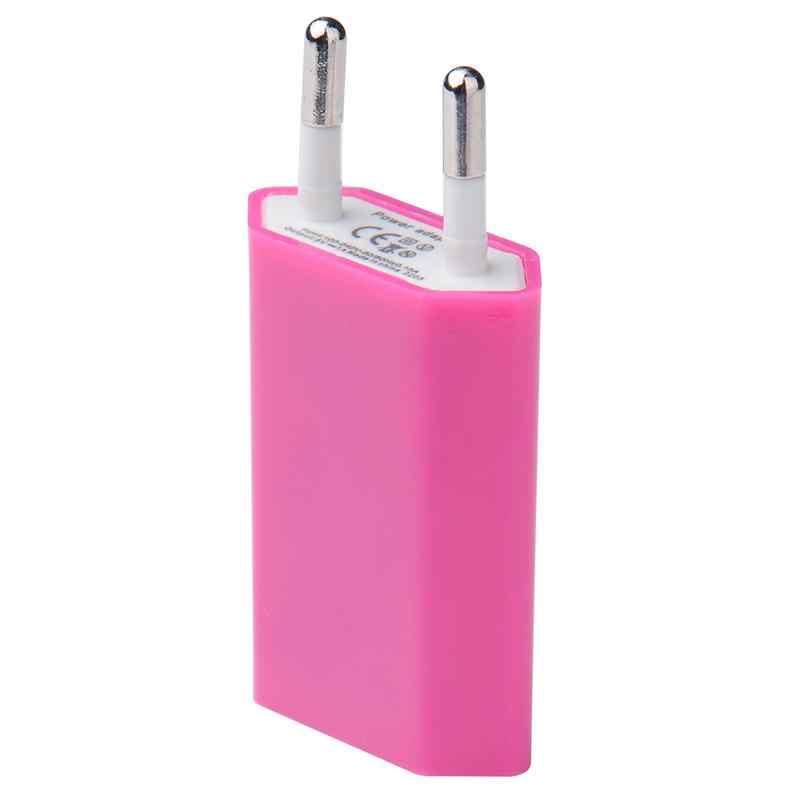EU Tiêu Chuẩn Châu Âu Sạc Đầu USB Điện Thoại Đầu Sạc Đa Năng EU Cắm Điện Ổ Cắm Phích Cắm Adaptors Cho IPhone Samsung