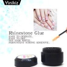 Yinikiz Glue Rhinestone UV Gel Nail Polish Transparent Color Adhesives  Super Sticky Nail Art Varnish Gel c35c43ff0cbe