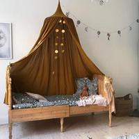 Camping Outdoor Tent Home Princess Bed Tent Bed Decoration Mosquito Net Children's Room Pure Cotton Open Door Tent Game House