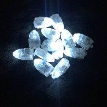 Мини-цветная пуля, воздушный шар, светодиодный фонарик, 10 шт. бумажный фонарь, пластиковая светящаяся вспышка, украшение для свадебной вечеринки