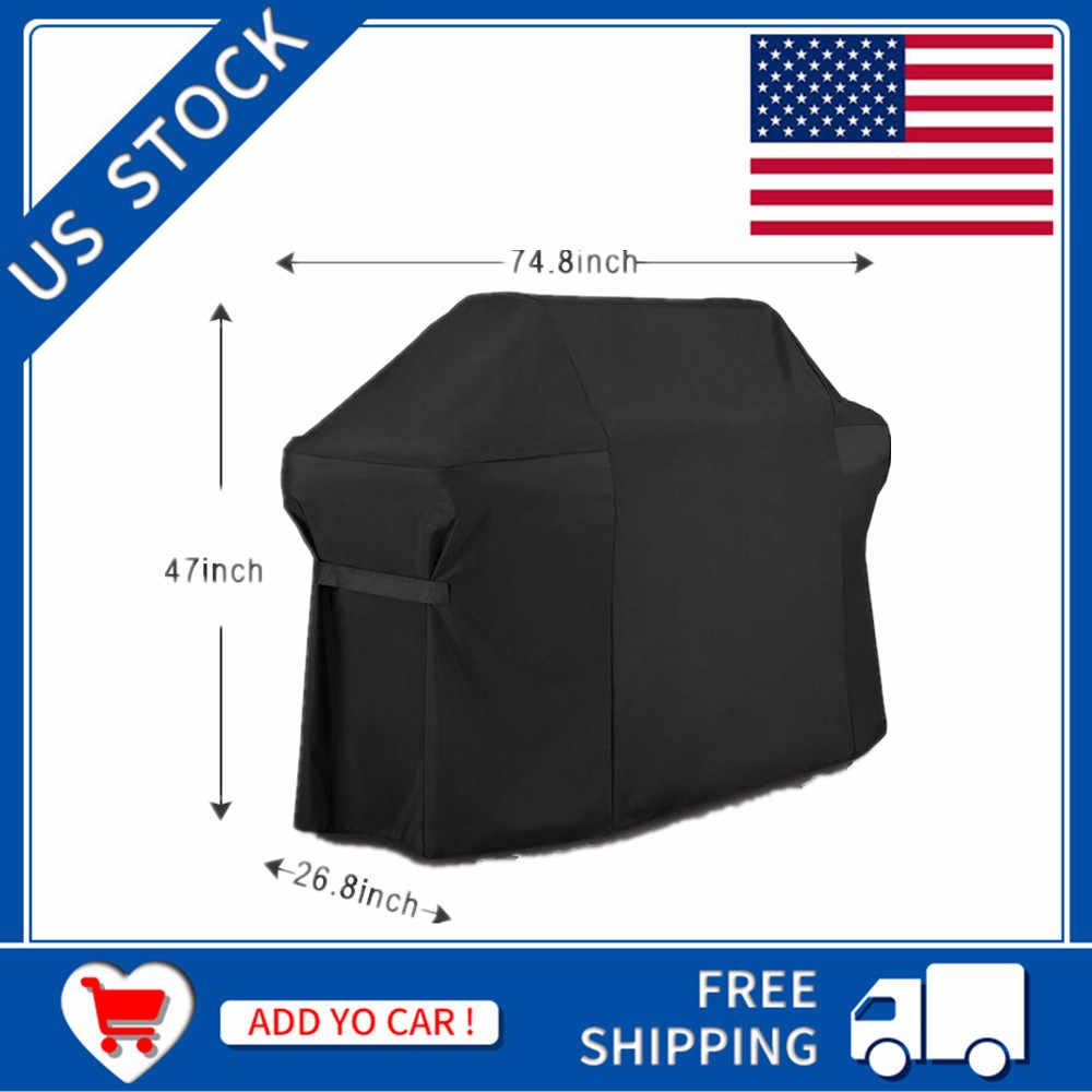 Barbecue BBQ Grill Cover With Storage Bag for Weber 7109 Summit 600 Genesis Gas Grills Camping BBQ Tools Accessories Outdoor