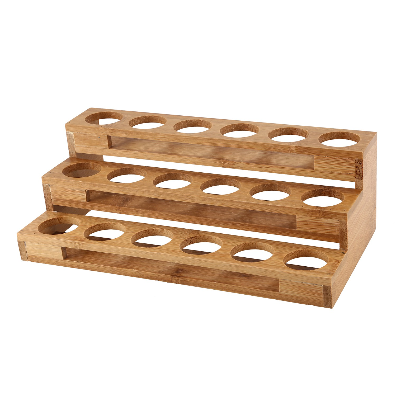 New Bamboo 18 Holes Essential Oil Display Wooden Stand
