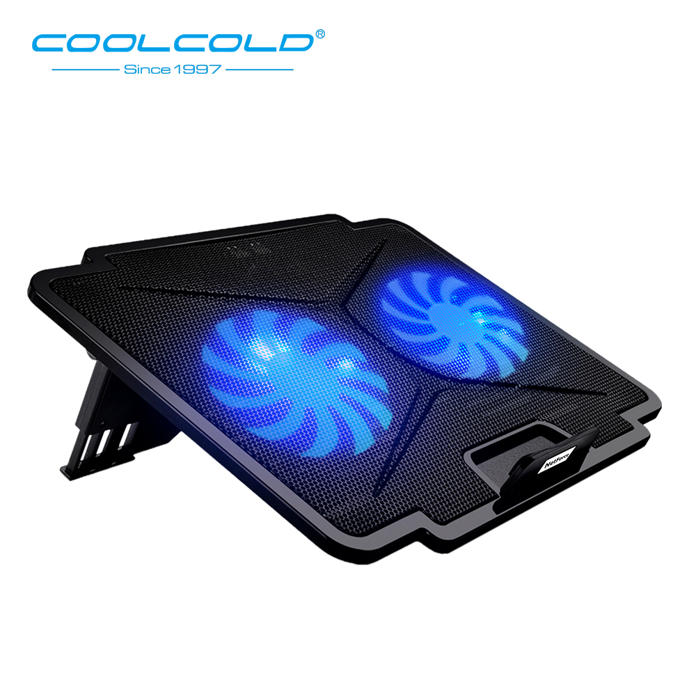 Large Laptop Cooling Fan Stand with USB Hub Adjustable Cooler Pad Compatible