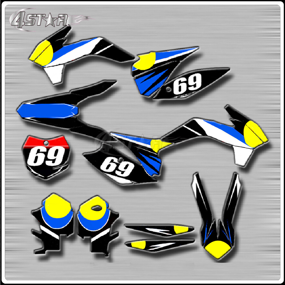 Motorbike <font><b>Stickers</b></font> Decals Customize For <font><b>YAMAHA</b></font> YZ250F YZ450F 06-13 YZ125 YZ250 96-16 YZ250X 16 WR250F 03-12 <font><b>WR450F</b></font> 03-11 WR250R image