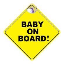 1mm Dicke Auto Aufkleber BABY AN BORD Baby Auto Warnung Signal Sicherheit Zeichen Umweltschutz Saugnapf Stil Aufkleber