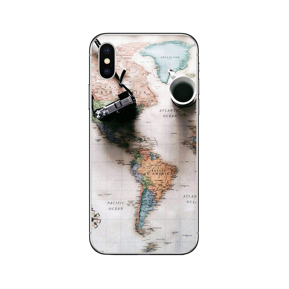 Image 5 - ciciber World Map Travel Phone Cases for Iphone 11 Pro XR XS MAX X Case for Iphone 7 8 6 6S Plus 5S SE Silicone Cover Funda Capa-in Fitted Cases from Cellphones & Telecommunications