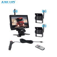 ANLUD Car Split Screen Rear View Camera Monitor Digital Wireless IR Backup Cameras P/N for Truck Bus Car Assistance