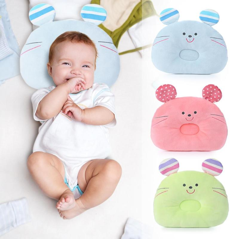 Soft Newborn Baby Pillow  Infant Baby Shaping Pillow Cartton Bear Shape Stereotypes Pillow Infant Newborn Anti-Rollover Pillow