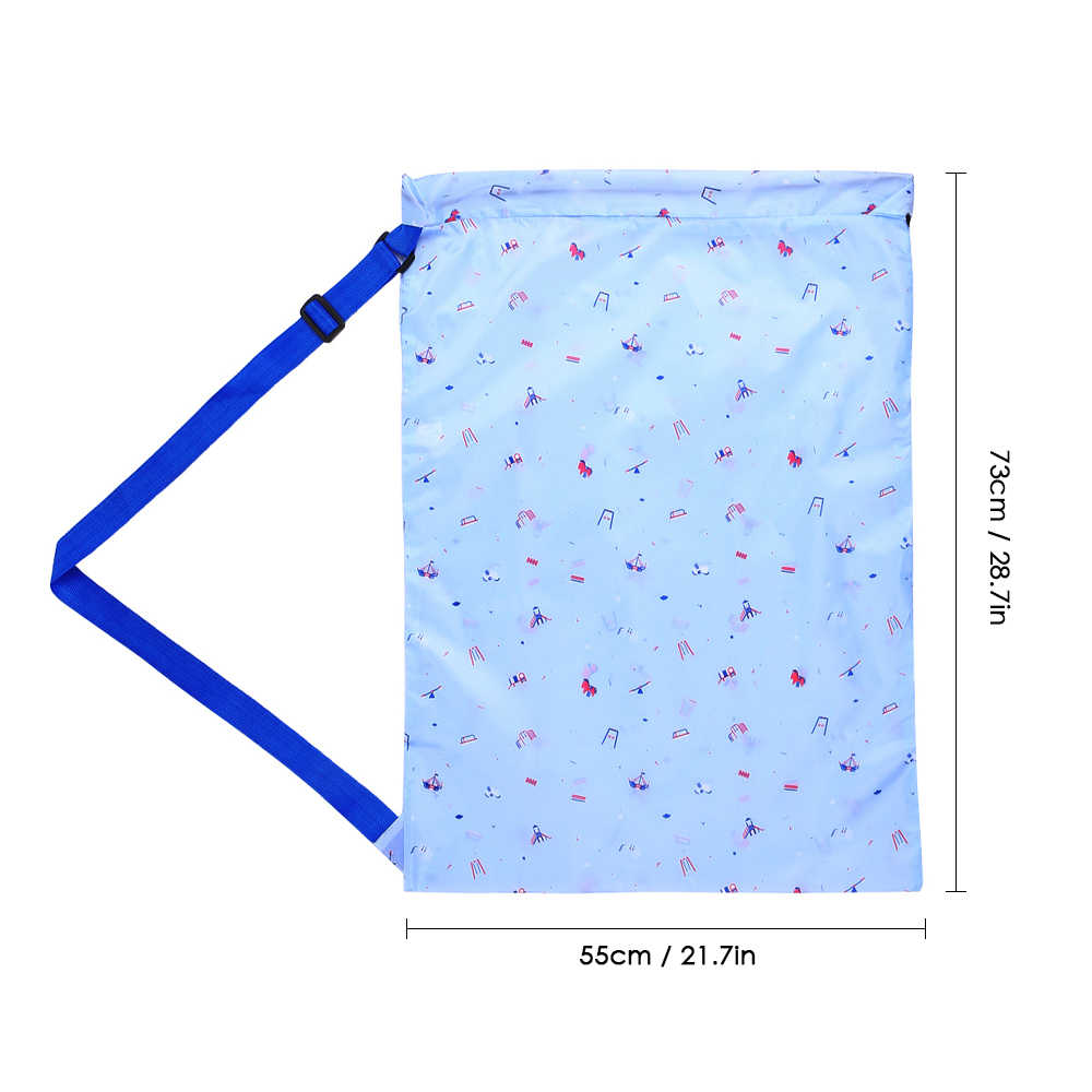 Портативный складной Оксфорд тканевый мешок для стирки ёмкость для хранения грязной одежды крутящееся насекомое закрытие плечевой ремень для дома путешествия