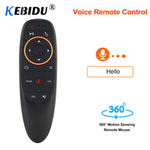 Kebidu G10 Air Mouse Control de voz 2,4 GHz inalámbrico con Gyro sensor juego Control de voz Control remoto inteligente para Android TV BOX