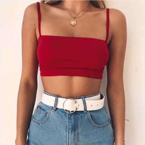 2019 Womens Sexy Bandeau Crop Tops Bustier Tube Crop Tank Cami Shirts Vest Crop Tops