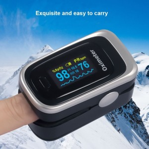 Image 2 - Finger Pulse Fingertip Oled Oximeter SPO2 PR PI RR Blood Oxygen With Respiratory Rate Oximetro De Pulsioximetro Dedo and case