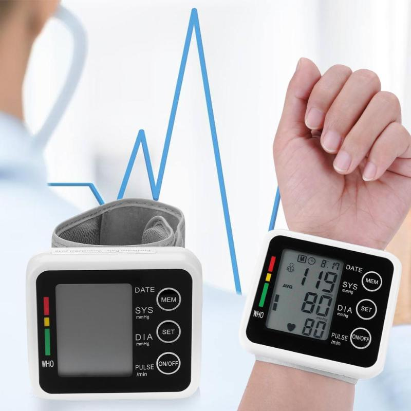 1PCS Digitale Handgelenk Blutdruck Arm Meter Blutdruckmessgerät Herz Schlagen Meter Home Health Care