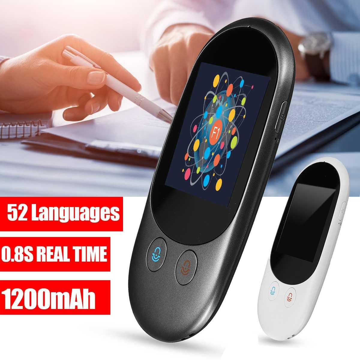 Tradutor De Voz Wi-fi Sem Fio Inteligente portátil 52 Aprendizagem Linguagem 2-Way Tradução Instantânea Para Reunião de Negócios de Viagem Ao Ar Livre