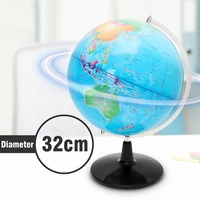 32CM Big Large Earth Globe World Map With Stand School Geography Educational Tool Toy Home Office Ornament Kids Gift