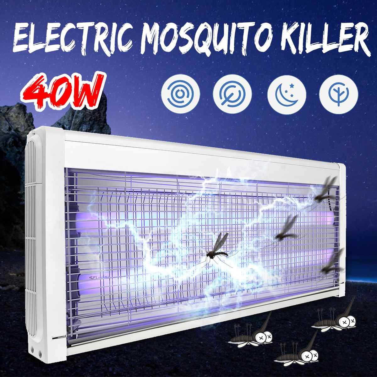 40W Electric Mosquito Fly Bug Insect Killer Zapper Trap Catcher Lamp 220V LED Electric Light Shock Night Lamp Indoor Room Garden40W Electric Mosquito Fly Bug Insect Killer Zapper Trap Catcher Lamp 220V LED Electric Light Shock Night Lamp Indoor Room Garden