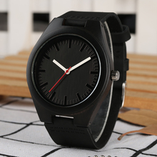 Natural Wood Watch Casual Simple Design Case Leather Band Wo