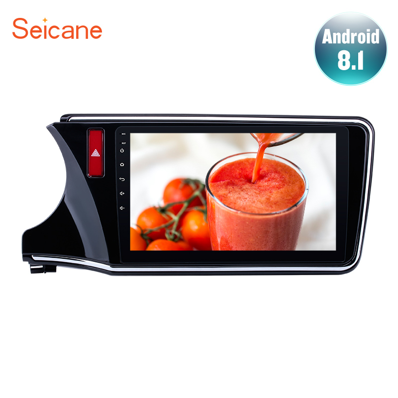"Seicane For 2014 2015 2016 2017 Honda CITY Left Hand Drive 2Din Android 8.1 10.1"" GPS Car Radio Audio Stereo Multimedia Player"