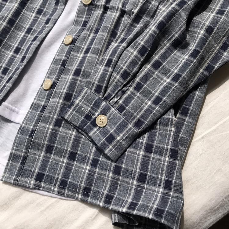 2d1c58c9f7f0 Cardigan Feminino Estate 2019 Femminile Lunghi Dell annata Di Vestiti  Stripes Coreano Camicia green coffee Color ...