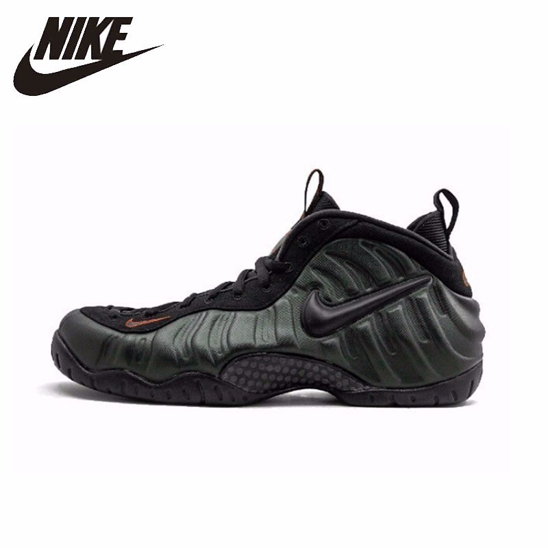 ee16a1f5bf5a Nike Air Foamposite Pro New Arrival Original Men s Blackish Green Army Bubble  Running Shoes Comfortable Sneakers