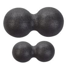 New Mini Peanut-shape Fascia Self-massage Ball Shoulder Back Legs Rehabilitation Training Ball Double Ball Unisex Portable цена в Москве и Питере