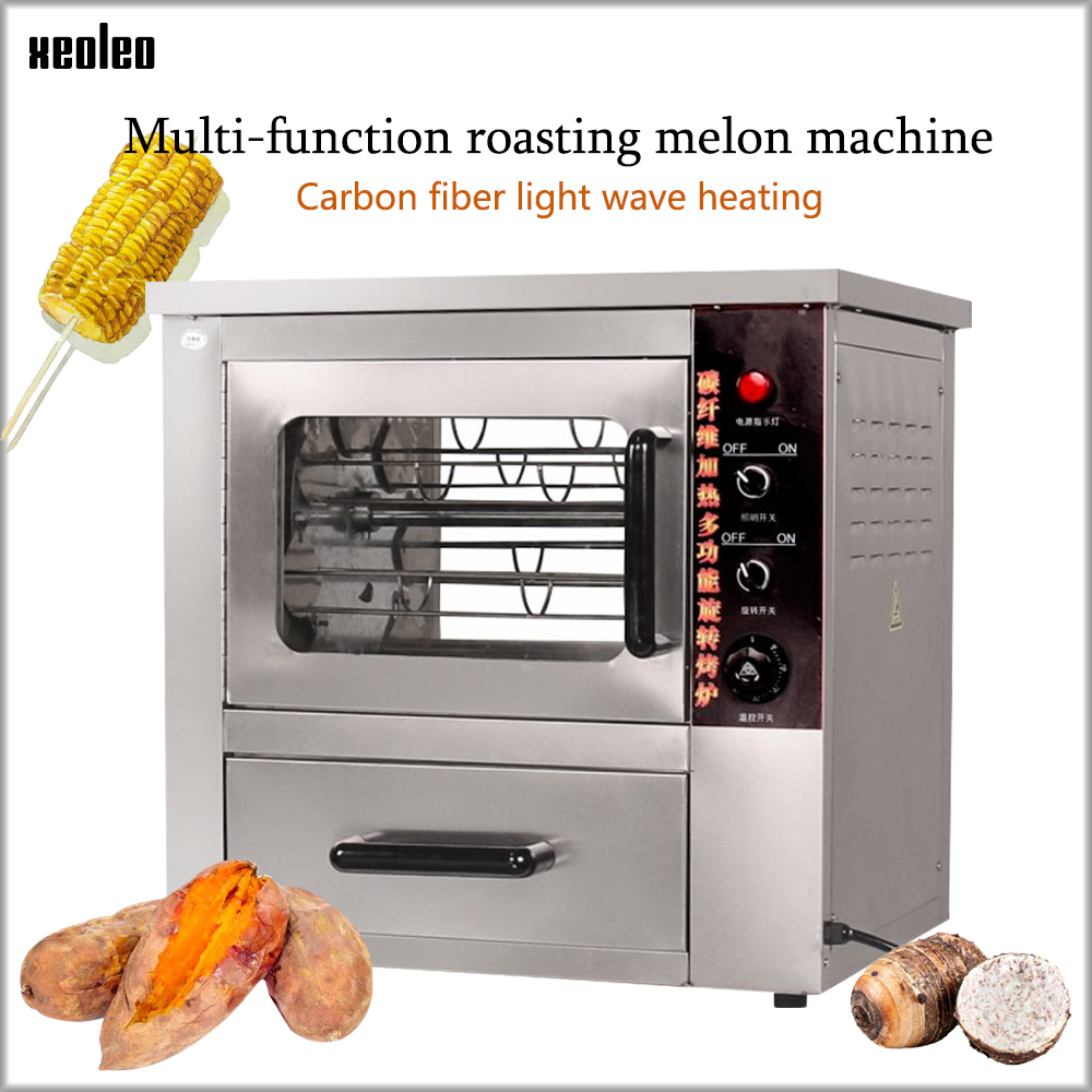 XEOLEO patate douce cuisson machine commerciale patate douce boulanger bureau automatique rotation patate douce maïs four 2500W pour Taro