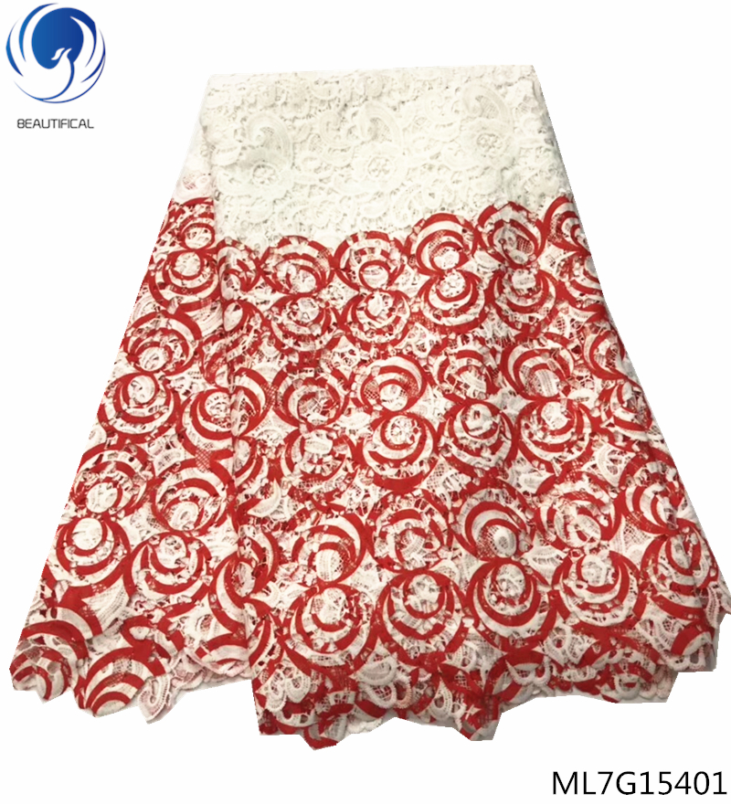 BEAUTIFICAL printed lace african fabric 2019 guipure lace fabric nigerian laces latest arrival 5 yards/lot hot sales ML7G154BEAUTIFICAL printed lace african fabric 2019 guipure lace fabric nigerian laces latest arrival 5 yards/lot hot sales ML7G154