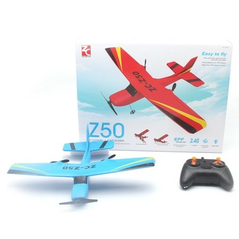 RC Glider Airplane 2.4GHz 2CH 340mm Wingspan Tough DIY Kids Toys Hand Throw Flying Glider Planes Model Flying Glider Plane Toys flying wing fx 79 fpv flying wing epo 2000mm wingspan rc airplane kit