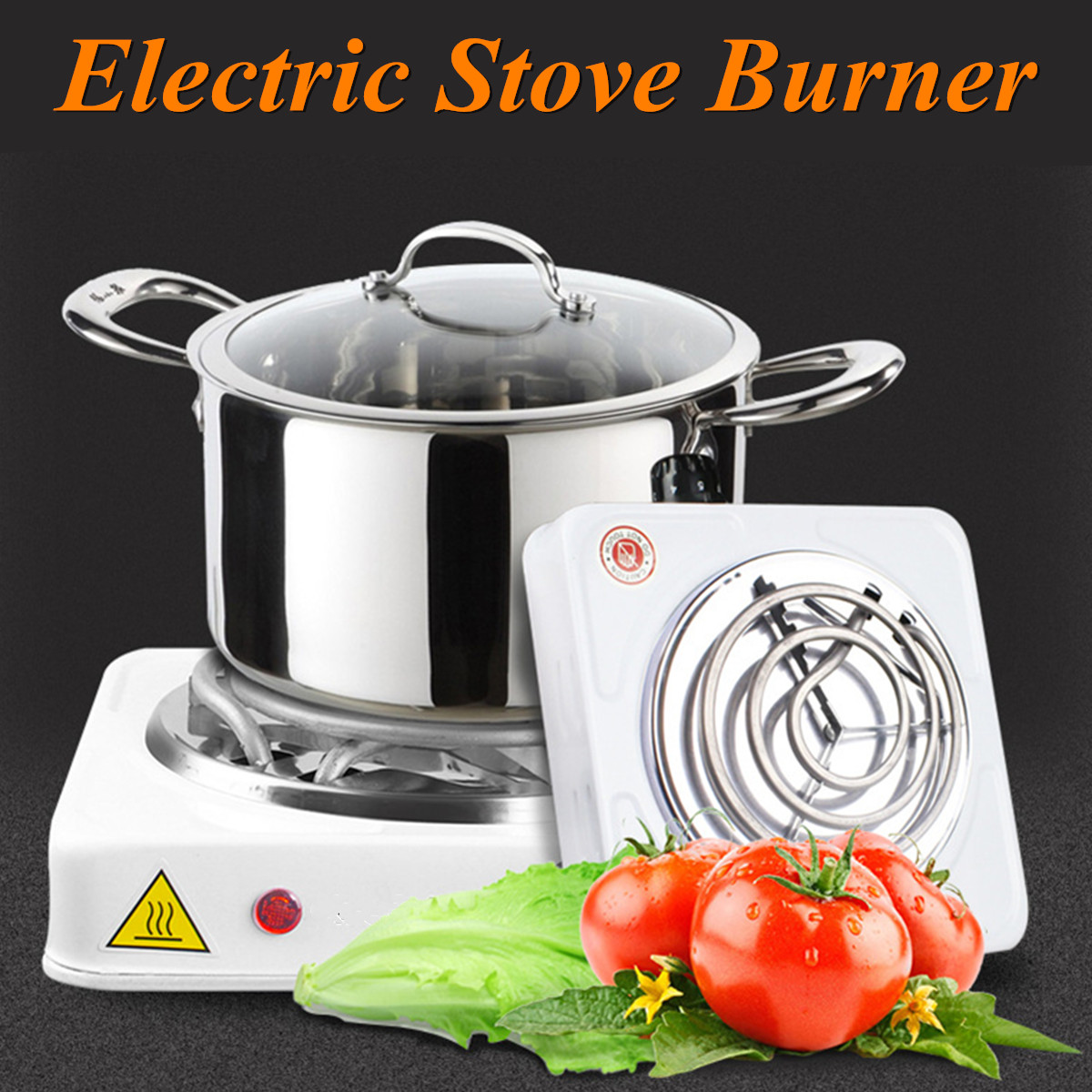 Electric Stove Hot Plate 1000W Iron Burner Portable Kitchen Cooker Coffee Heater 110-240V Milk Soup Coffee Durable Asjustable