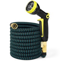 Hot Selling 25FT 50FT Garden Hose High Pressure Car Wash Water Gun Set Home 3 Times Telescopic Hose With Spray Gun To Watering