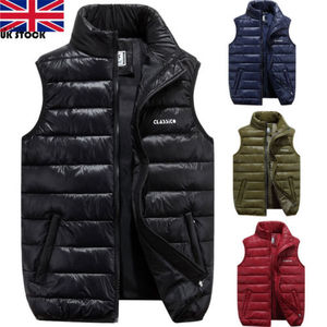 Image 3 - Men Winter Down Quilted Vest Body Warmer Warm Sleeveless Padded Jacket Coat