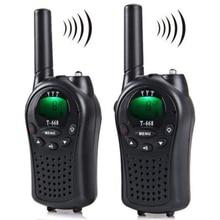 Talkie walkie Radio bidirectionnelle 2 pièces T 668 multicanal automatique tenu dans la main 5KM
